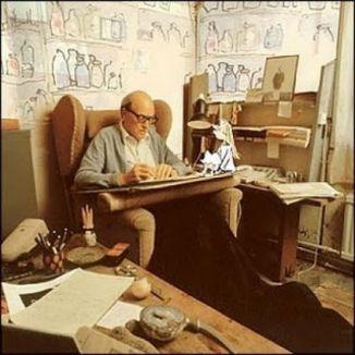 ROnald Dahl working